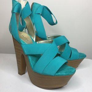 Aqua colored heels